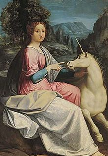 A Maiden with Unicorn in Rome