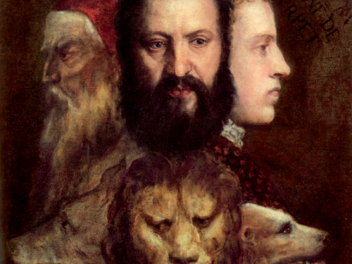 Titian's so called Allegory of Prudence in the National Gallery, London.