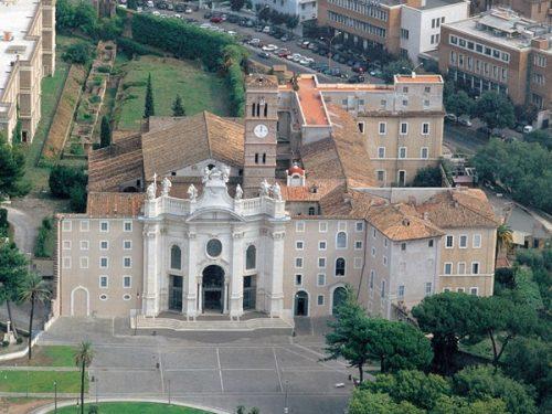 The Basilica of Santa Croce in Jerusalem. Rome