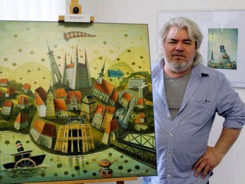 L'artista slovacco Peter Stankovič a Roma