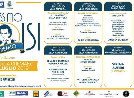 """XIX Edizione del """"Premio Massimo Troisi"""""""