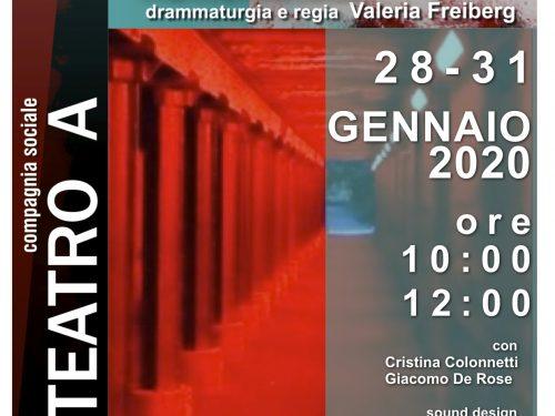 """Al Teatro Cometa Off in Roma """"Ascolta Israele"""" di Valeria Freiberg"""