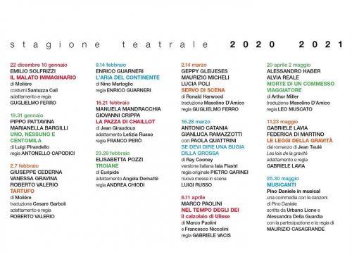 Presentata la Stagione 2020/2021 del Teatro Quirino in Roma