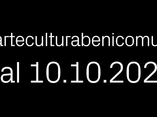 Campagna #arteculturabenicomuni.